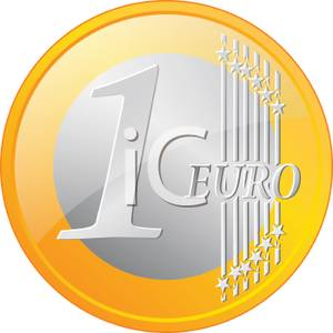 A Gold Euro Coin Royalty Free Clipart Picture 100527 235872 249009