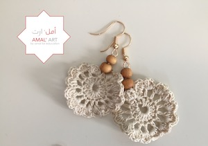 Orecchini - Syrian Flower - Sabbia